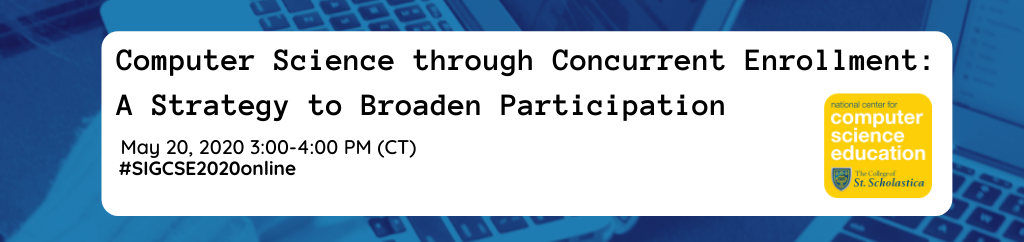 Computer Science through Concurrent Enrollment: A Strategy to Broaden Participation